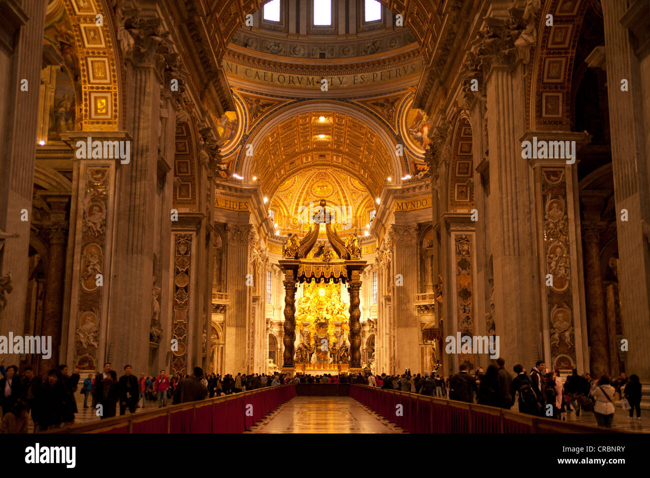 papal altar with canopy, interior, st. peter's basilica, vatican