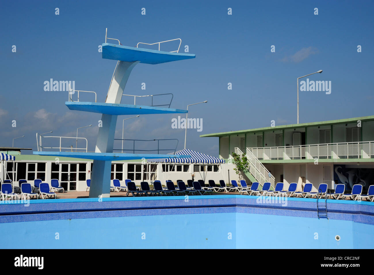 Swimming Pool With A Diving Platform Hotel Riviera On The Malecon Stock Photo Royalty Free