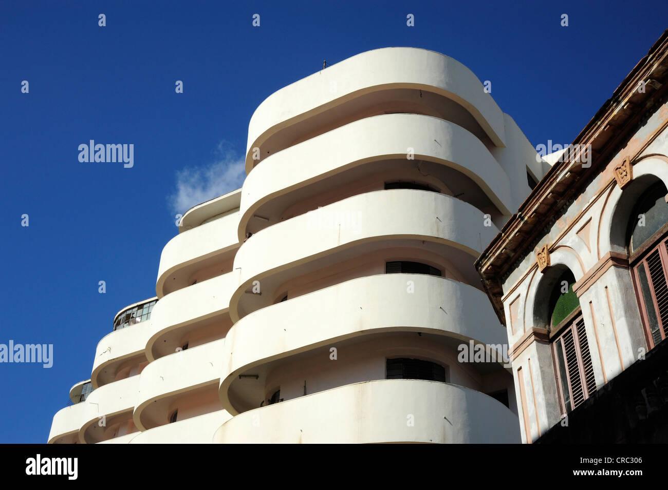 Edificio Solimar Modern Architecture In The City Center Of Havana Centro Habana Cuba Greater Antilles Caribbean