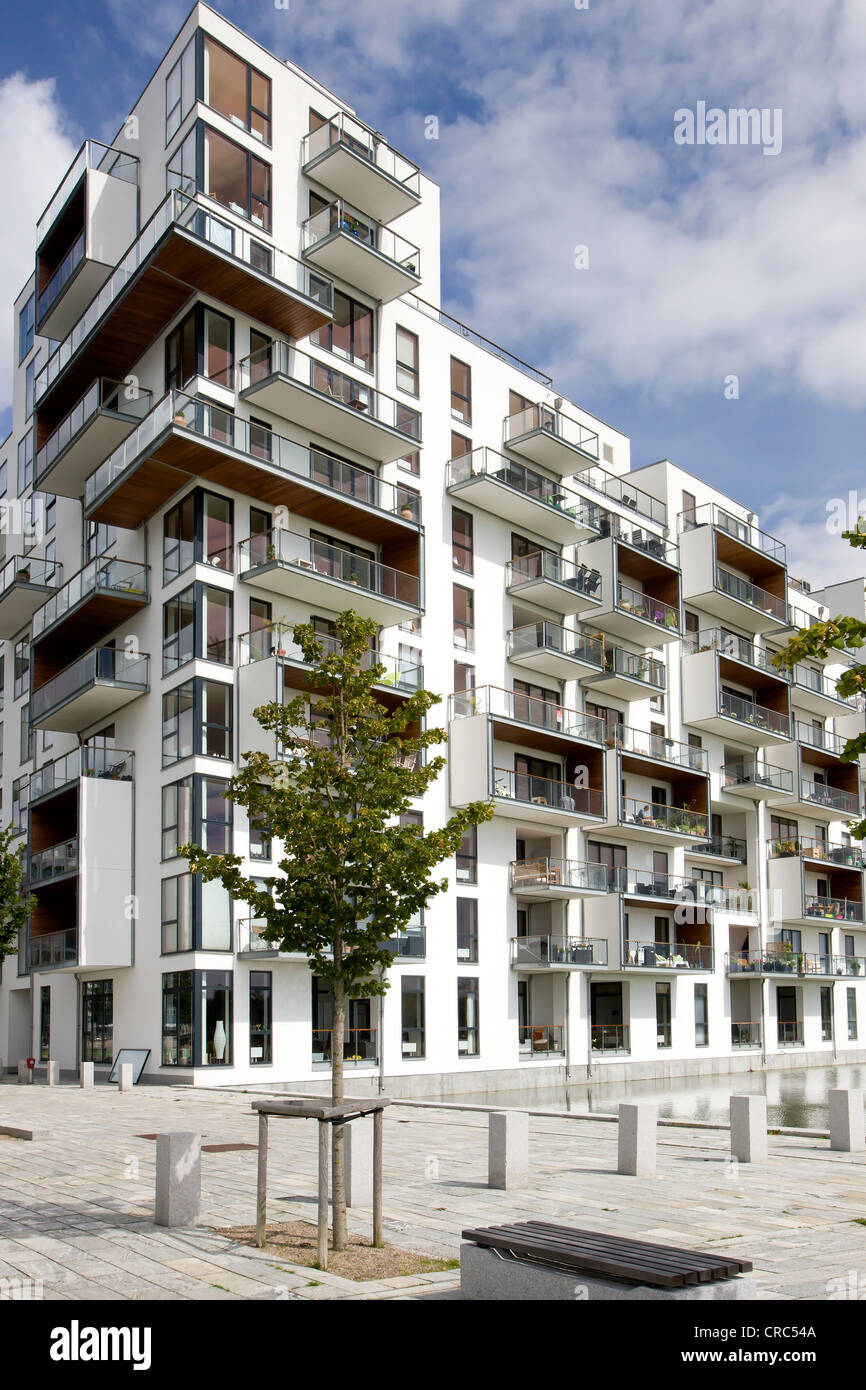 modern apartment building in copenhagen denmark europe