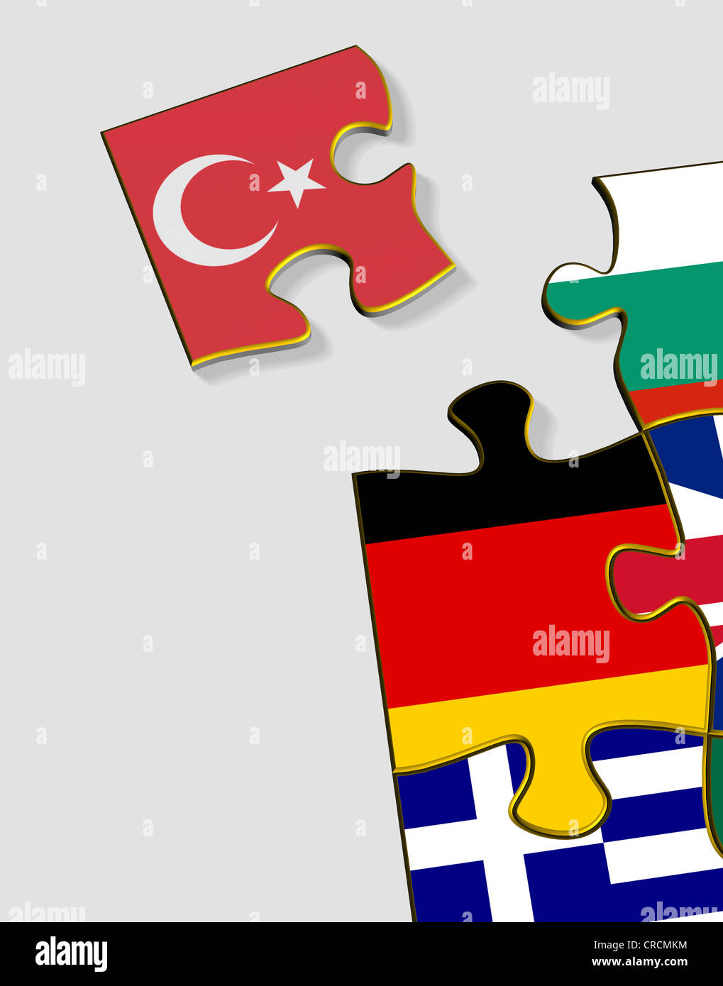 Uncategorized Turkey Puzzle jigsaw puzzle pieces with national flags illustration symbolic image for the eu accession candidate turkey