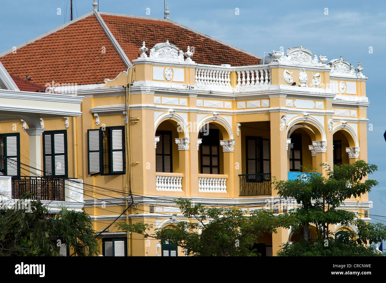 French colonial architecture phnom penh cambodia stock for Architecture khmer