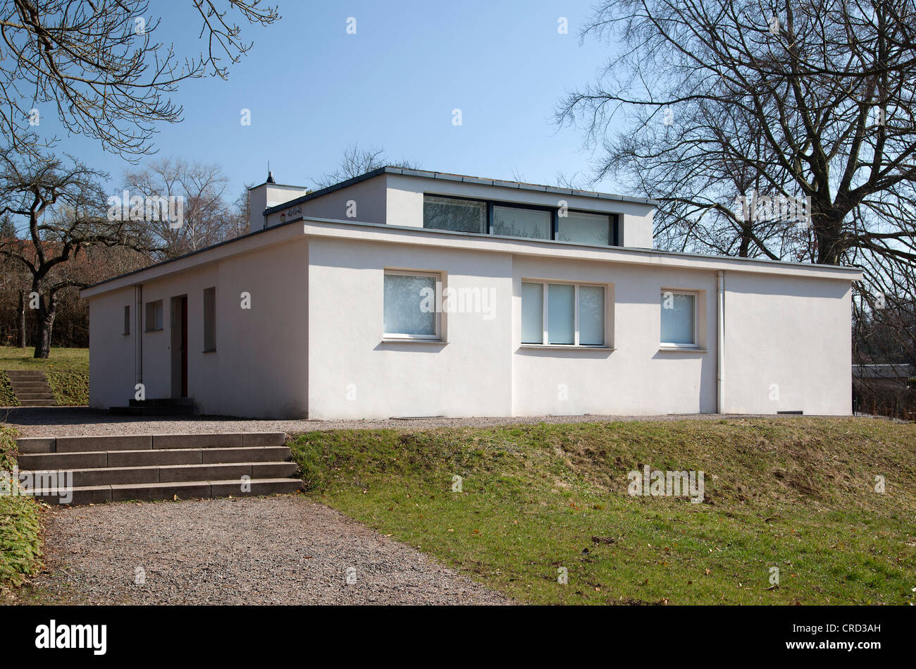 haus am horn model house of the weimar bauhaus a unesco world stock photo royalty free image. Black Bedroom Furniture Sets. Home Design Ideas