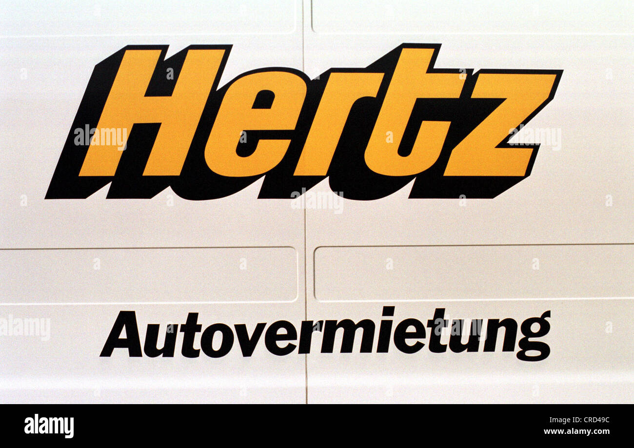 hertz rent a car logo stock photo royalty free image. Black Bedroom Furniture Sets. Home Design Ideas