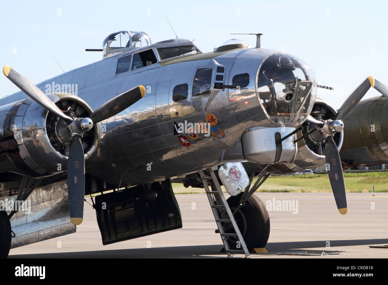 A World War II B-17 Flying Fortress Bomber. Wings and ...