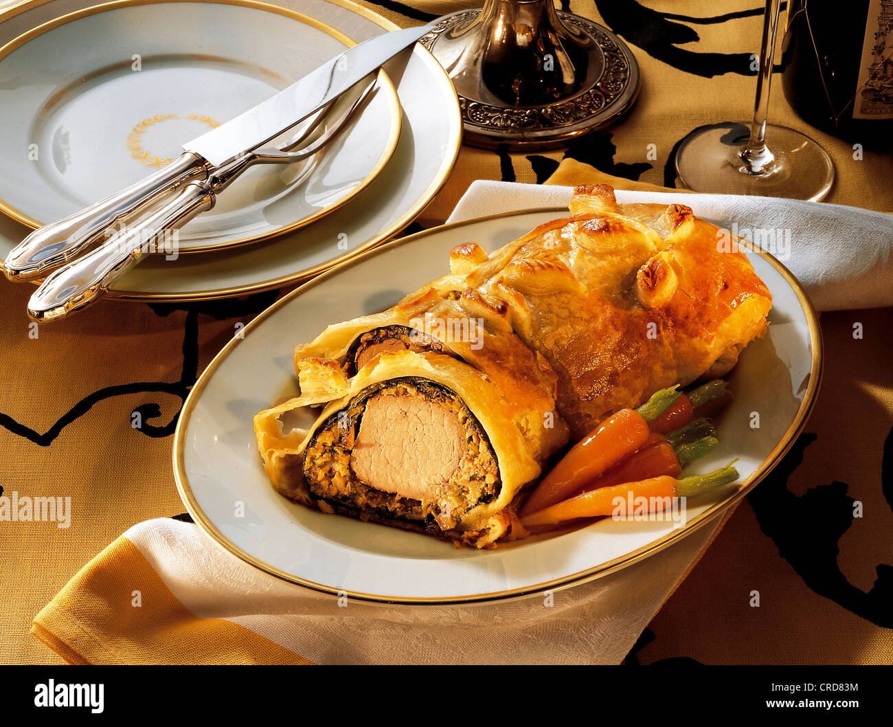 Pork loin in puff pastry recipe