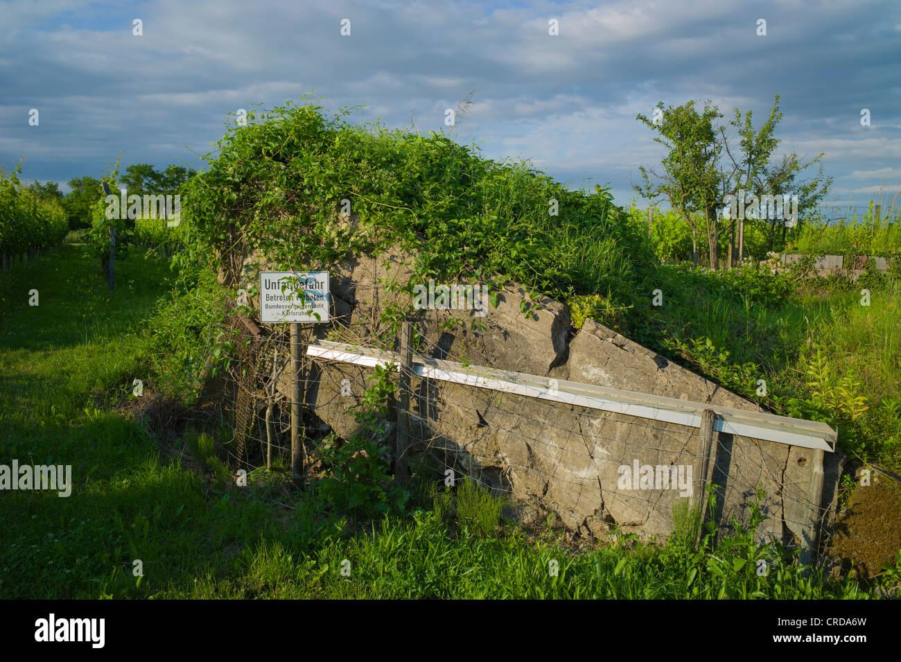 demolished german world war 2 bunker weingarten baden. Black Bedroom Furniture Sets. Home Design Ideas