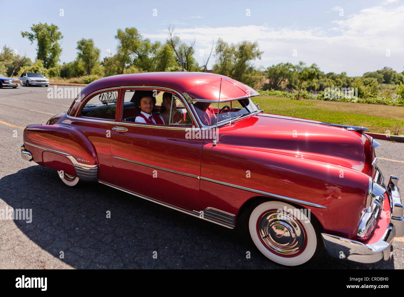1952 chevy deluxe lowrider   california usa stock photo royalty free