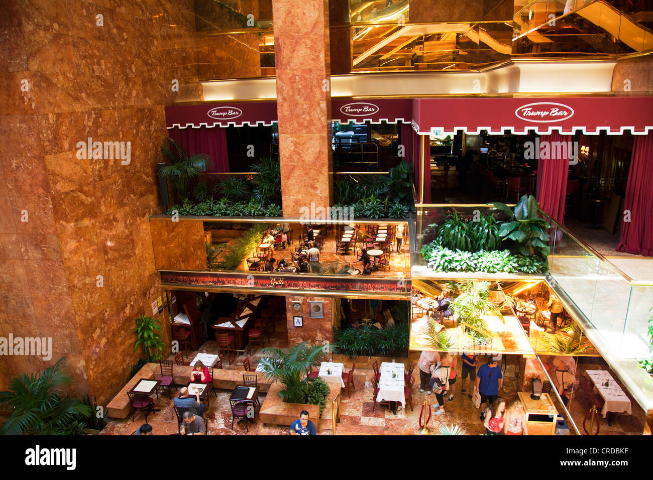 Food Court Inside The Trump Tower Building On Fifth Avenue