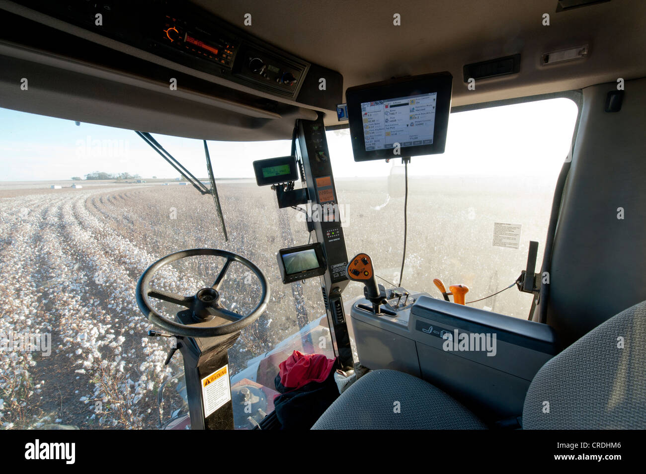 Inside Of A Combine : Inside combine cab using gps and other technology to farm