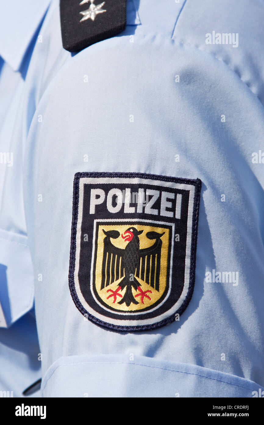 polizei police german police badge german federal police