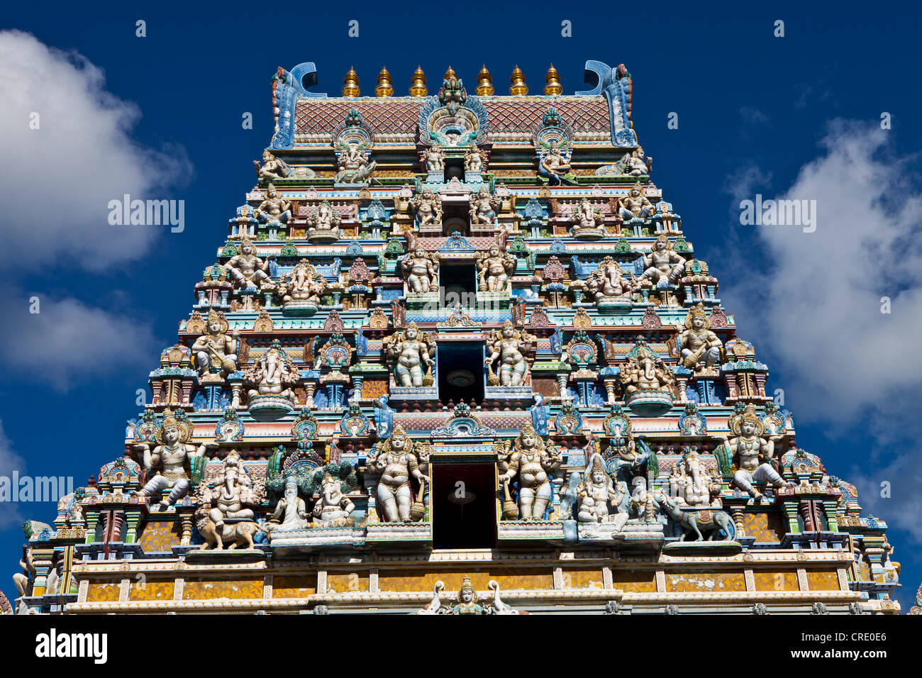 Hindu Temple Victoria Mahe Seychelles Africa Indian Ocean - Seychelles victoria map indian ocean