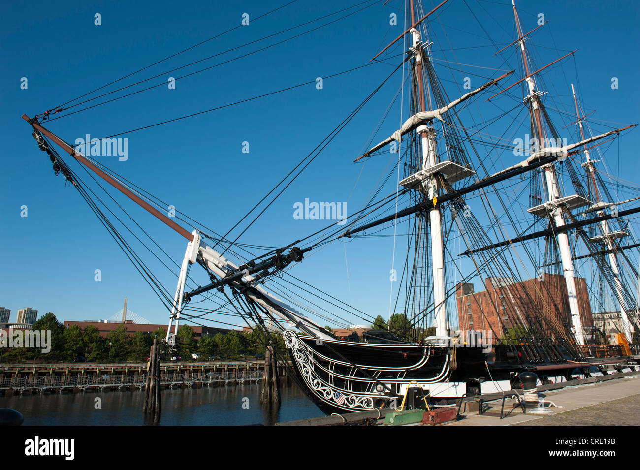 USS Constitution Museum Ship Bow Masts Rigging Frigate US - Ship museums in us