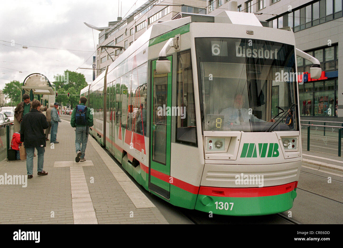 tram of the mvb at a bus stop magdeburg germany stock photo royalty free image 48870233 alamy. Black Bedroom Furniture Sets. Home Design Ideas