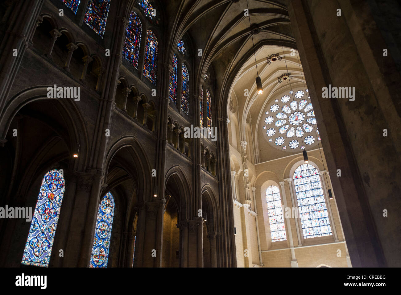 Cleaning And Restoration Work At Chartres Cathedral In