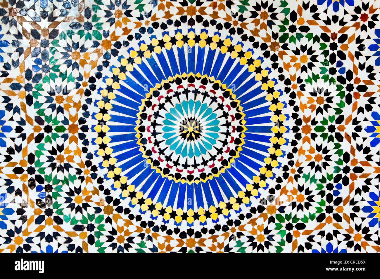 Zellij Mosaic Made Of Terracotta Tiles In Telouet Kasbah