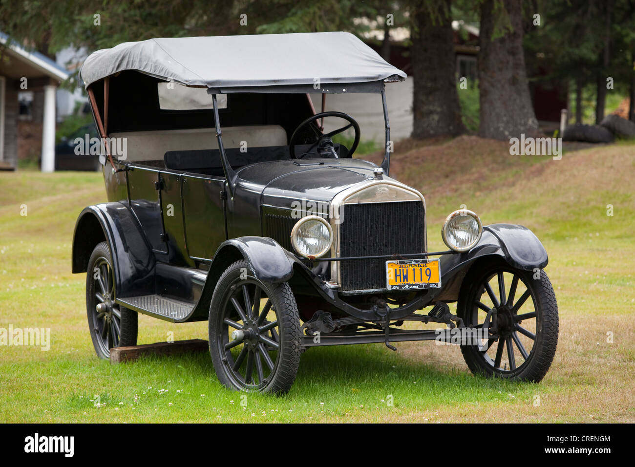Historic car automobile ford model t tin lizzie flivver stock image
