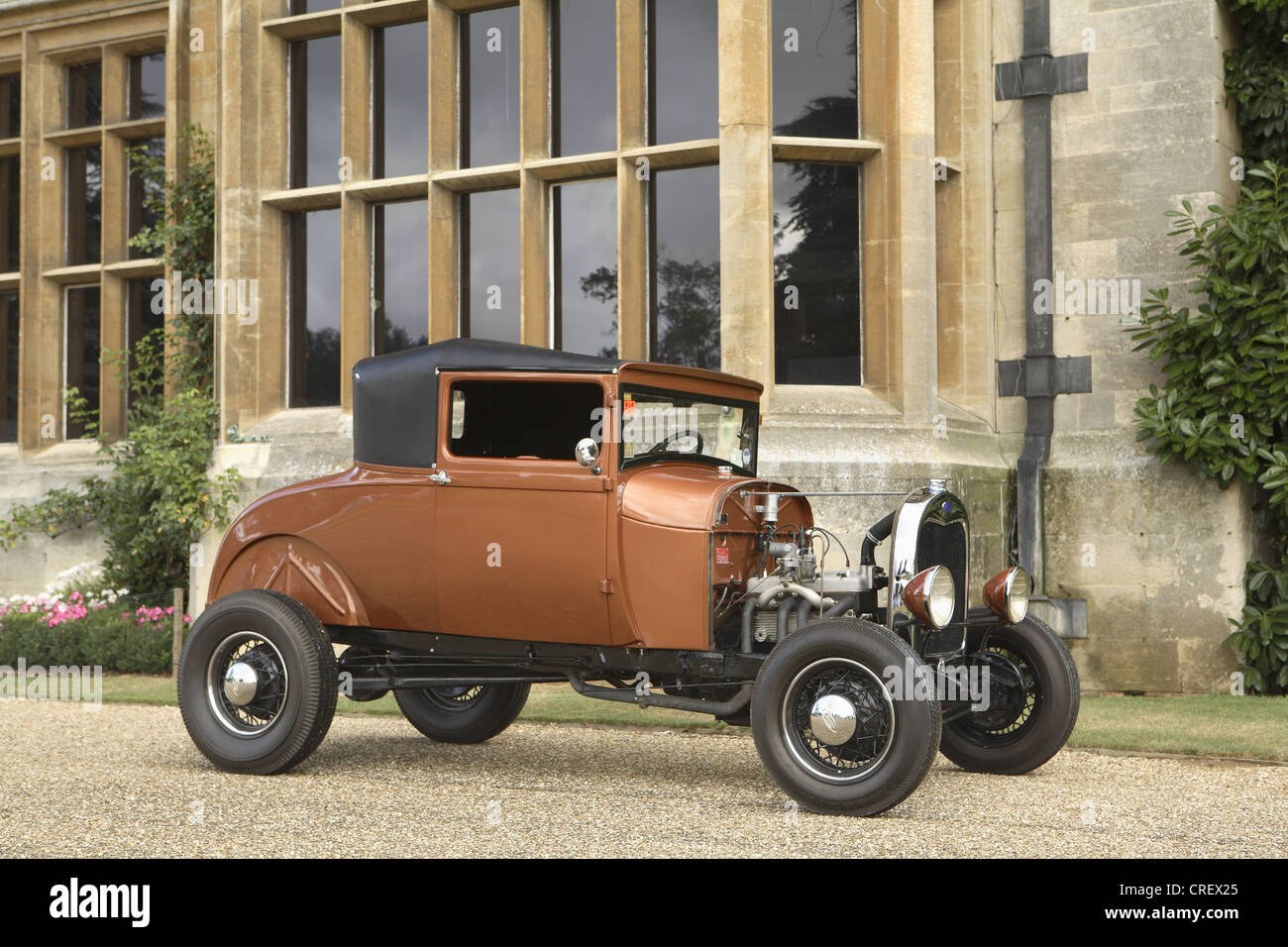 Ford Model A coupe hot rod in bronze Stock Photo, Royalty Free ...
