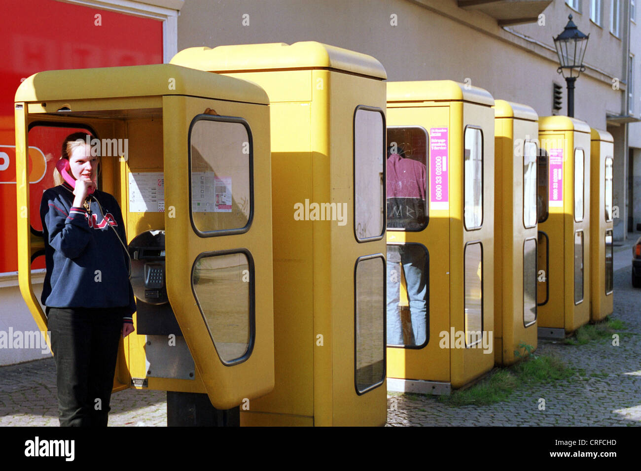 berlin germany phone booths stock photo 48897001 alamy. Black Bedroom Furniture Sets. Home Design Ideas