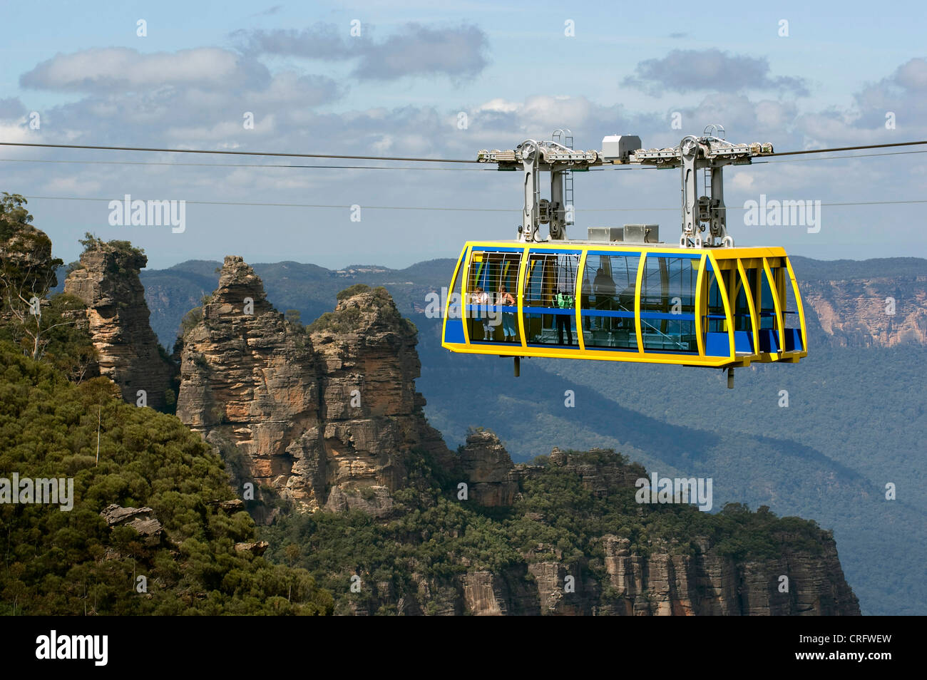 Cable Car Sandstone Formation The Three Sisters In