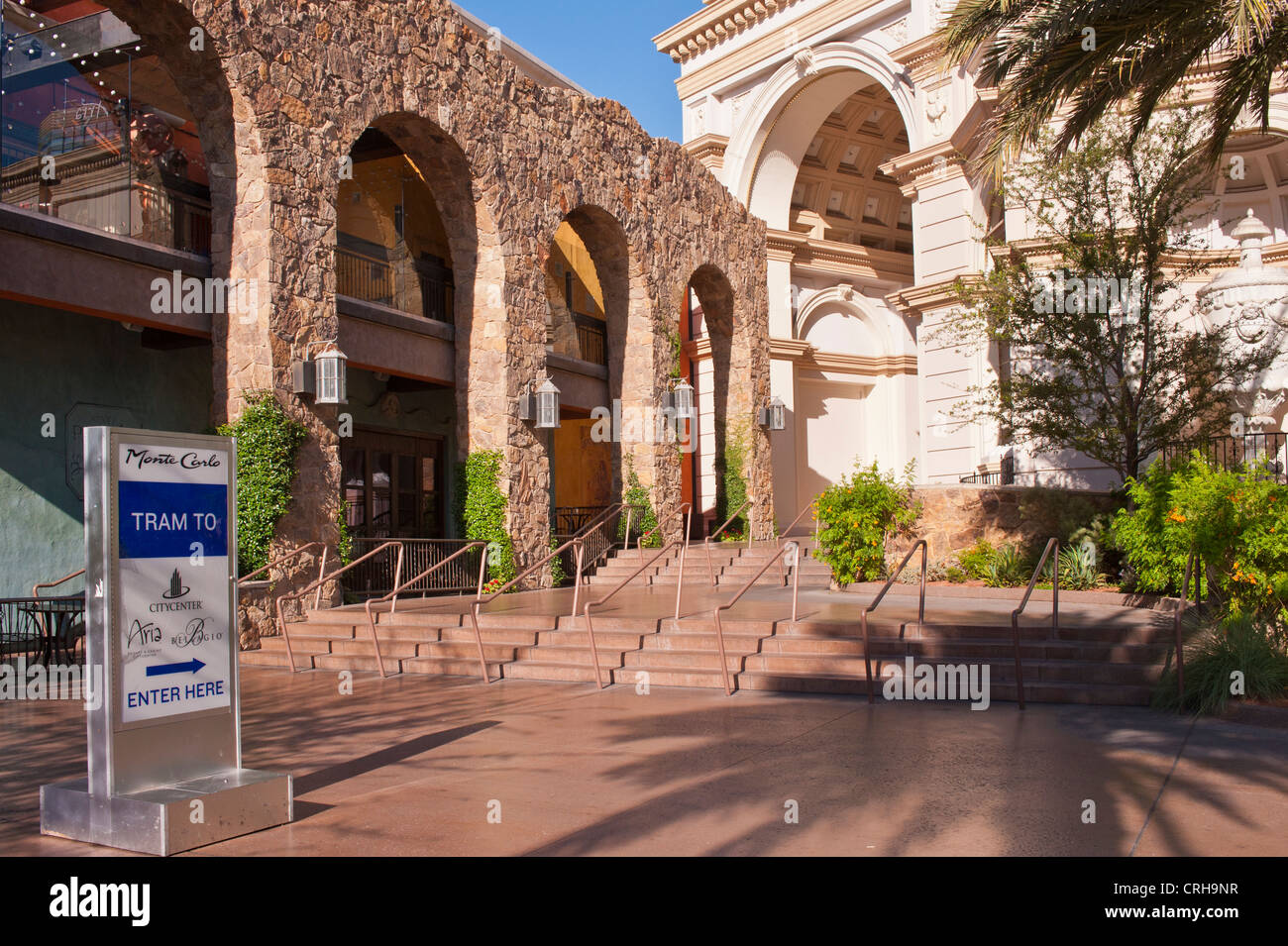 entrance to the monte carlo resort hotel casino in las vegas