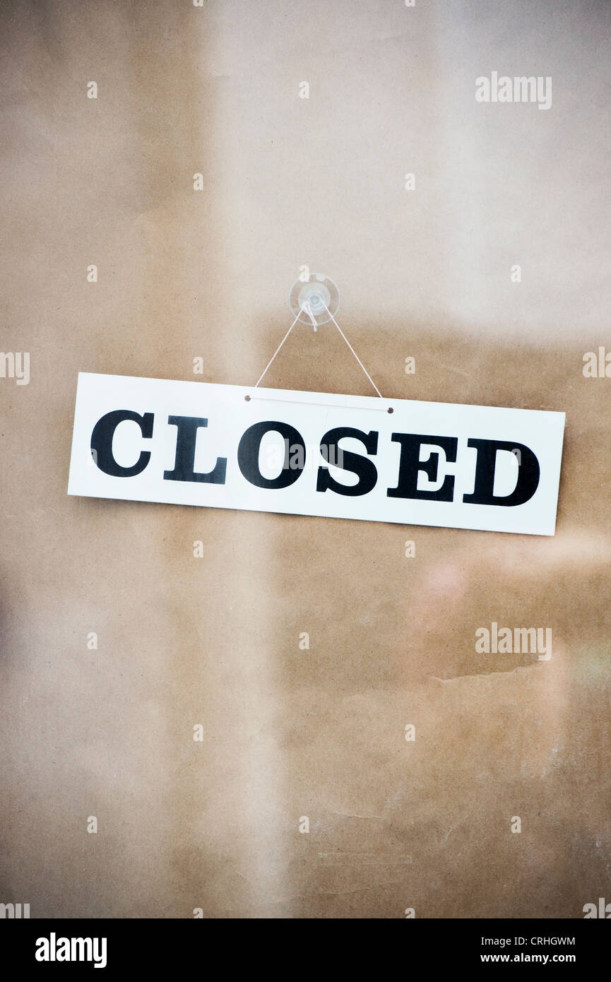 Closed sign on a shop door Stock Photo, Royalty Free Image ...