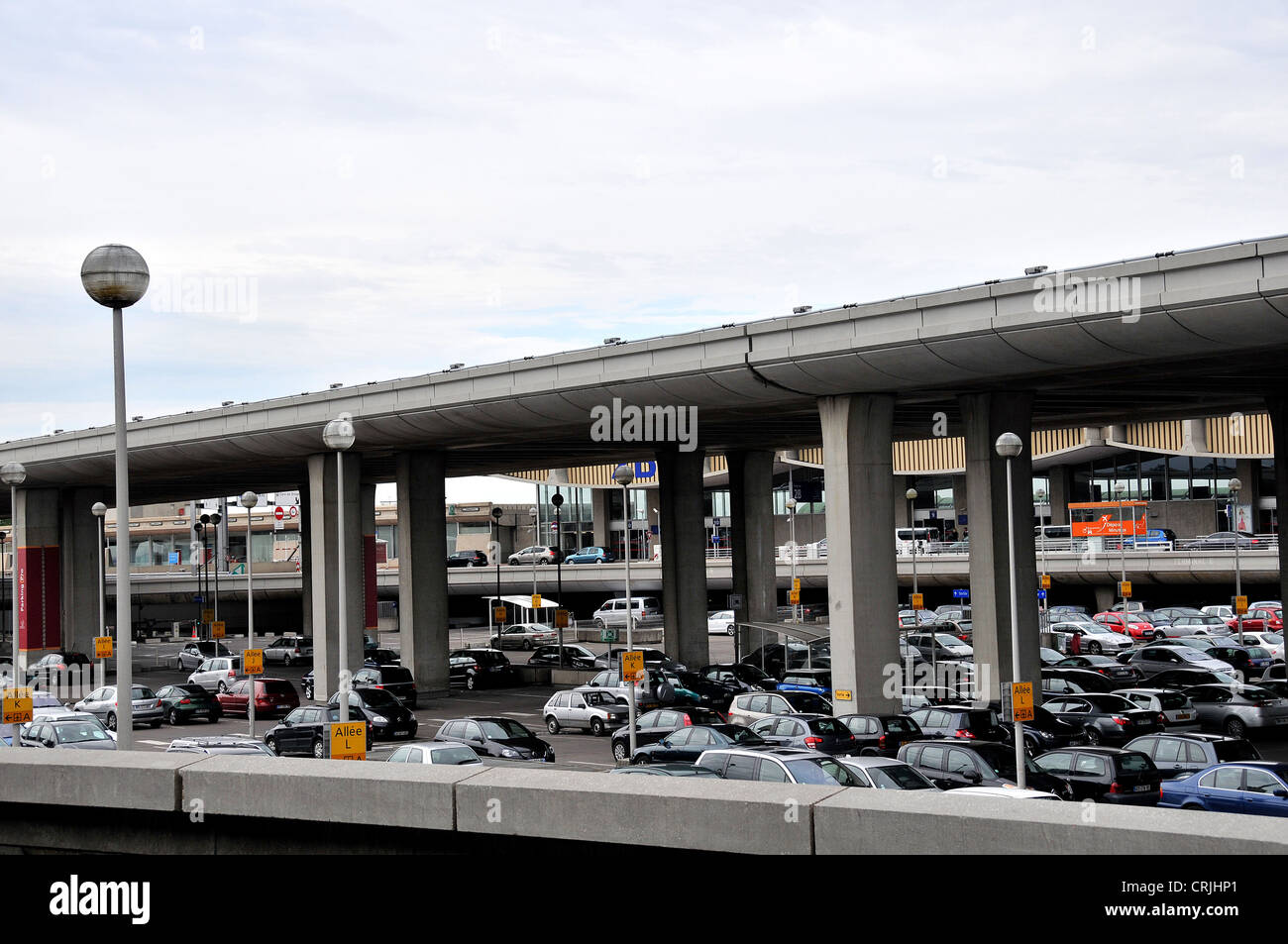 cars parking roissy charles de gaulle airport terminal 2 paris france stock photo royalty free. Black Bedroom Furniture Sets. Home Design Ideas