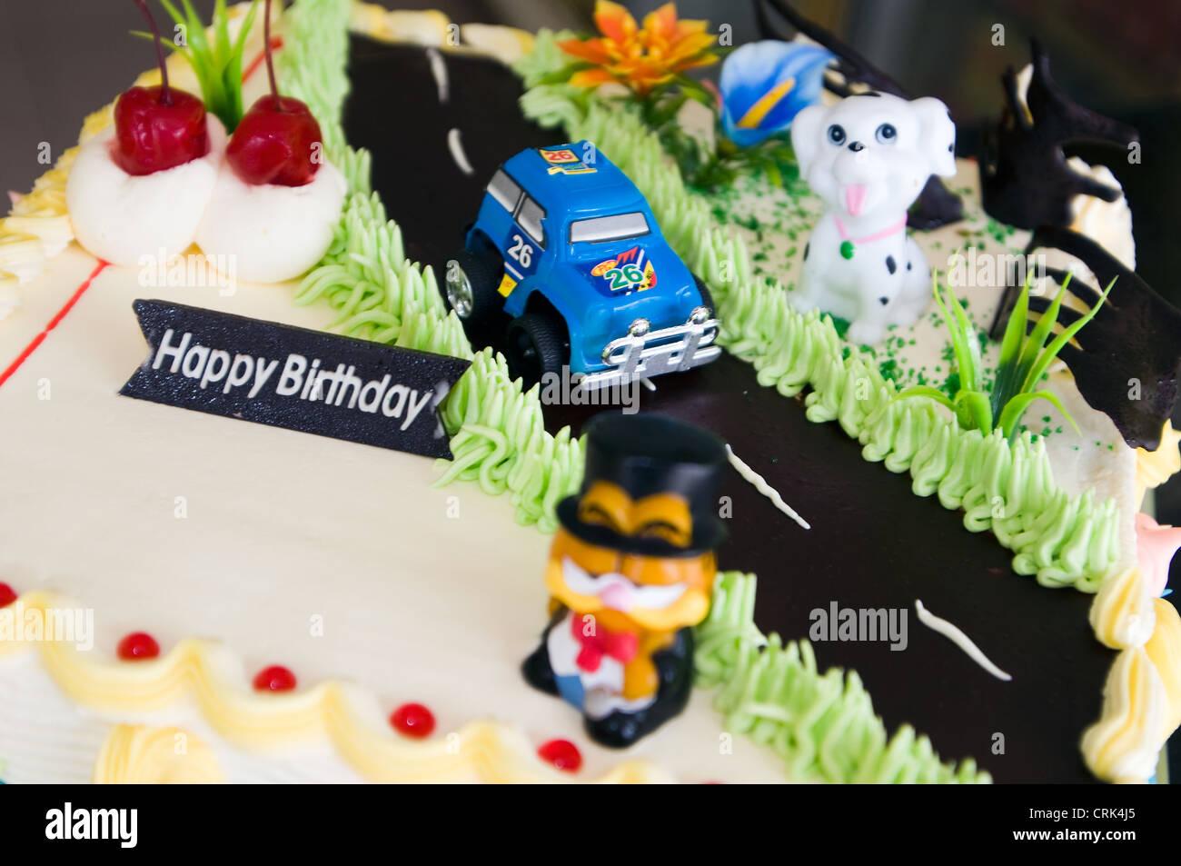 birthday cake in bakery nagoya batam riau islands indonesia Stock