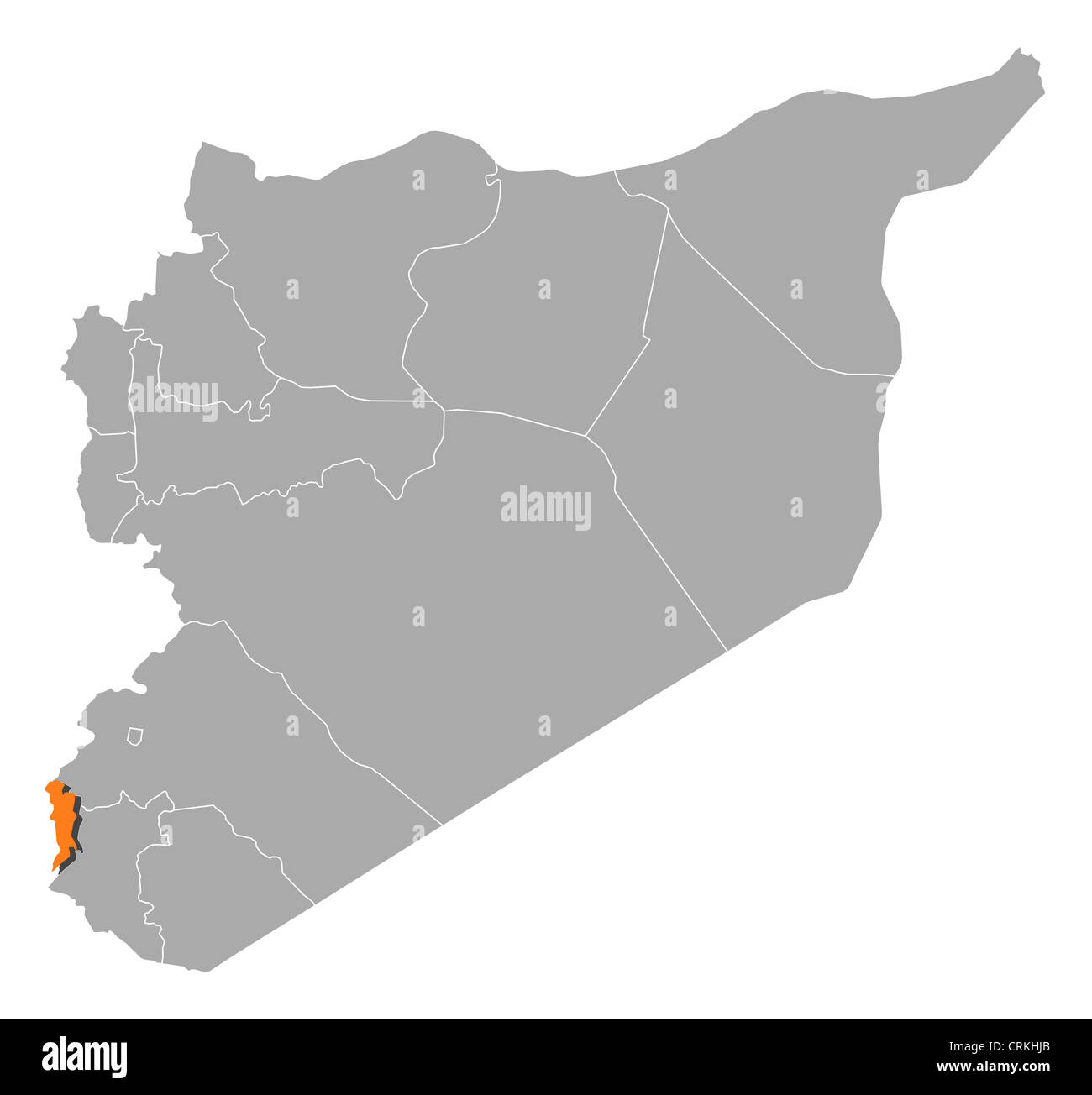 Political map of syria with the several governorates where quneitra political map of syria with the several governorates where quneitra is highlighted gumiabroncs Images