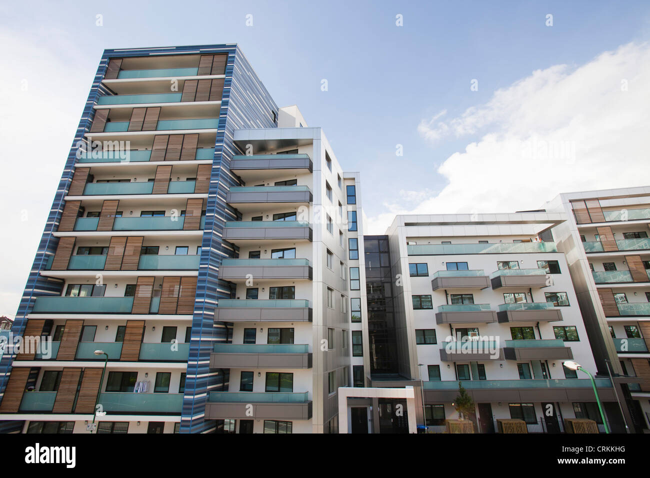 Watling Place new apartment buildings in Queens Park london UK