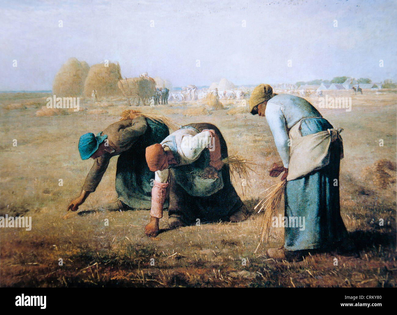 jean francois millet the gleaners stock photo 48996304 alamy. Black Bedroom Furniture Sets. Home Design Ideas