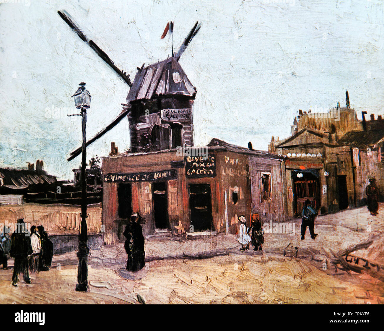 Le moulin de la galette van gogh stock photo royalty free image 48996506 - Moulin de la borderie ...