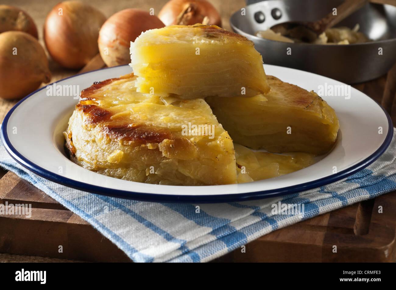 Stock Photo Welsh Onion Cake Potato And Onion Dish Wales Food Uk