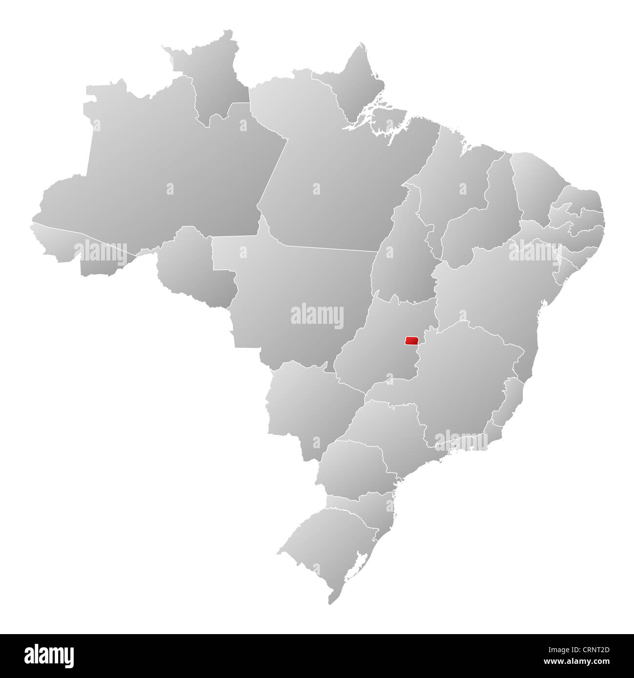 Political Map Of Brazil With The Several States Where Brazilian - Political map of brazil