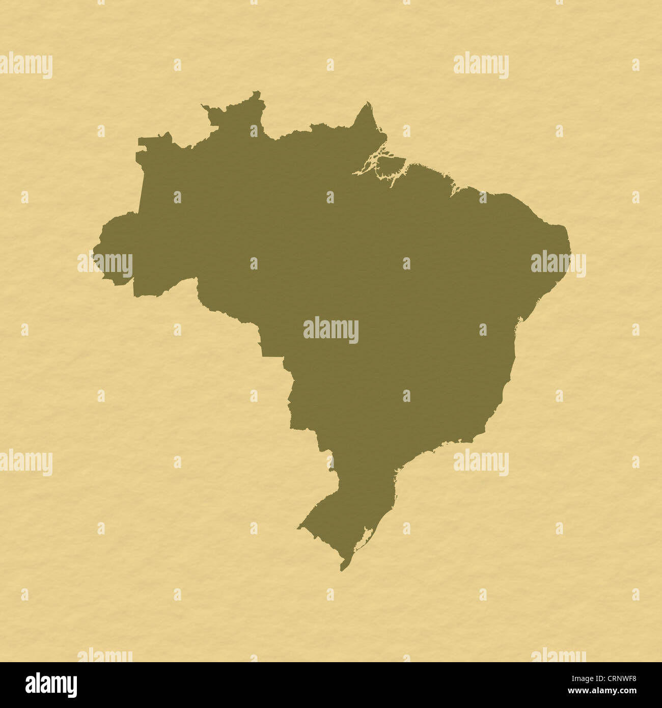 Political Map Of Brazil With The Several States Stock Photo - Political map of brazil