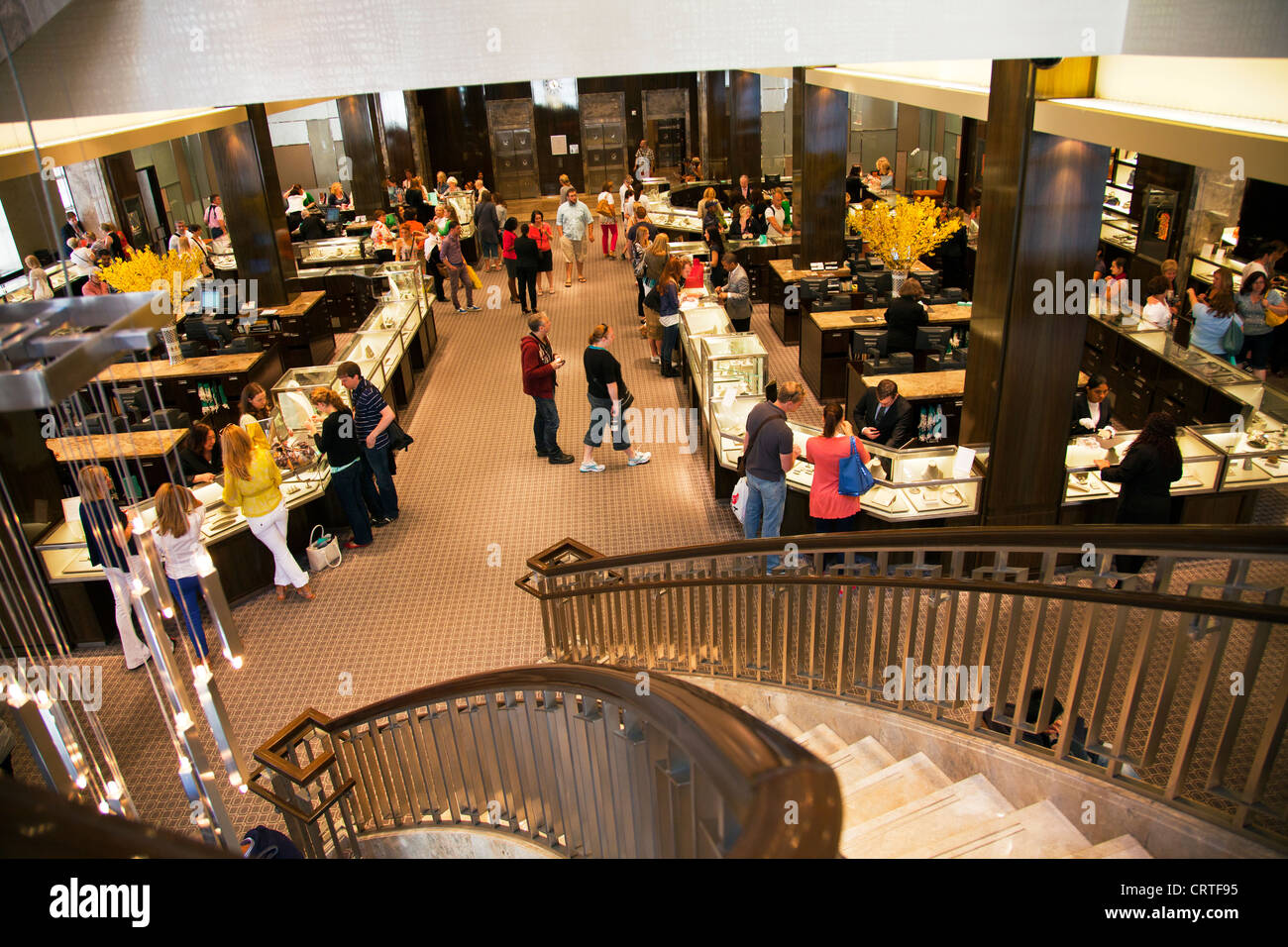 inside the iconic tiffany co jewelry store in new york city fifth stock photo 49096689 alamy. Black Bedroom Furniture Sets. Home Design Ideas