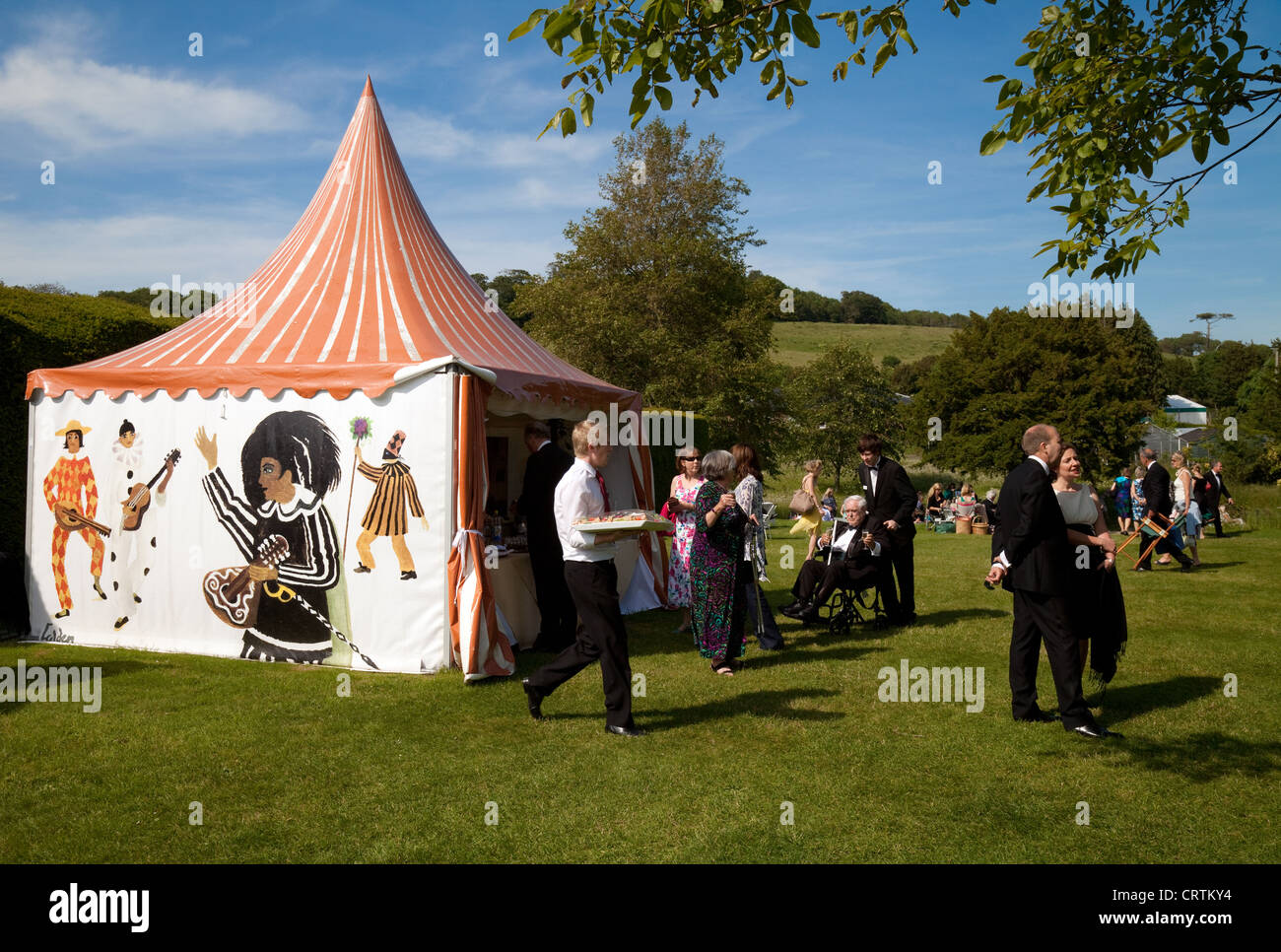 Ch&agne bar tent in the gardens Glyndebourne Opera Festival Lewes Sussex UK & Champagne bar tent in the gardens Glyndebourne Opera Festival ...