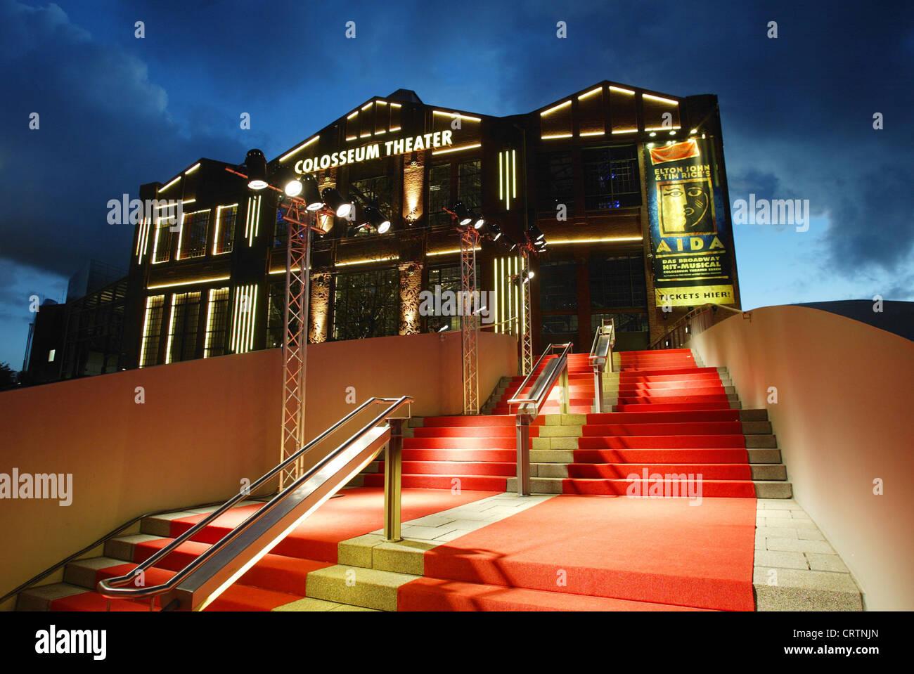 colosseum theater in essen musical aida stock photo. Black Bedroom Furniture Sets. Home Design Ideas