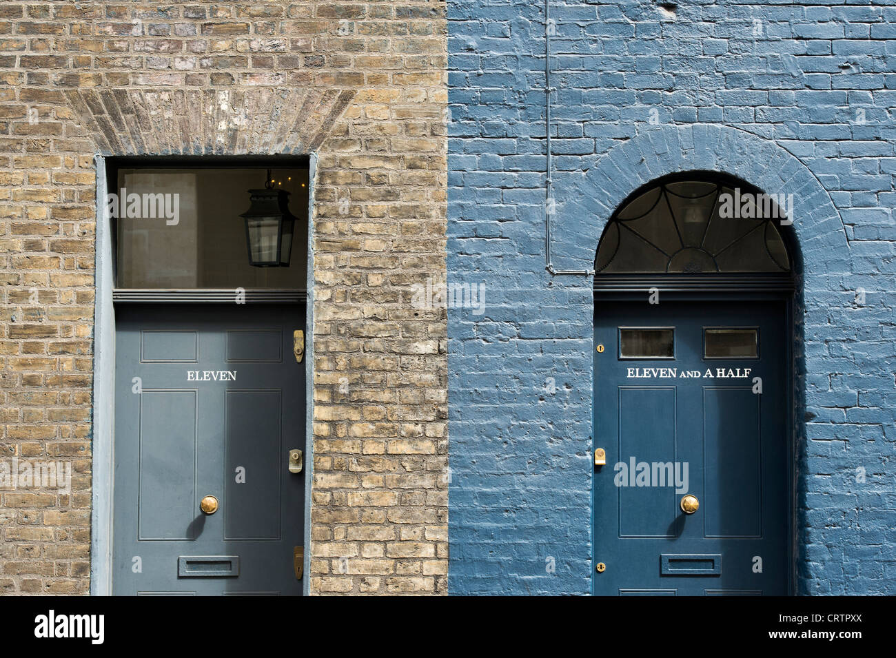 Eleven and Eleven and a Half front doors, Victorian terraced ...
