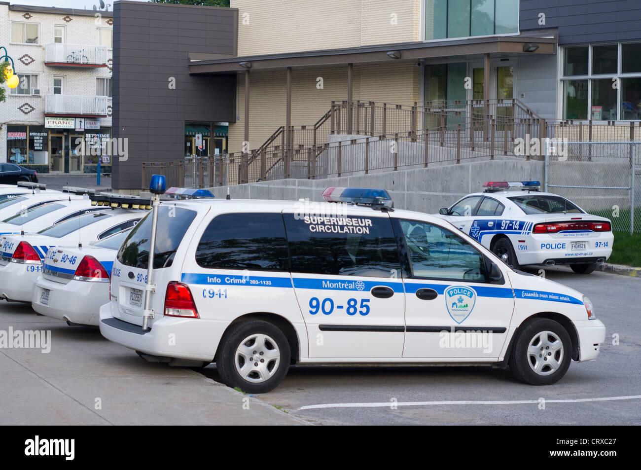 Montreal police station 90 parking, St-Leonard , Quebec ...