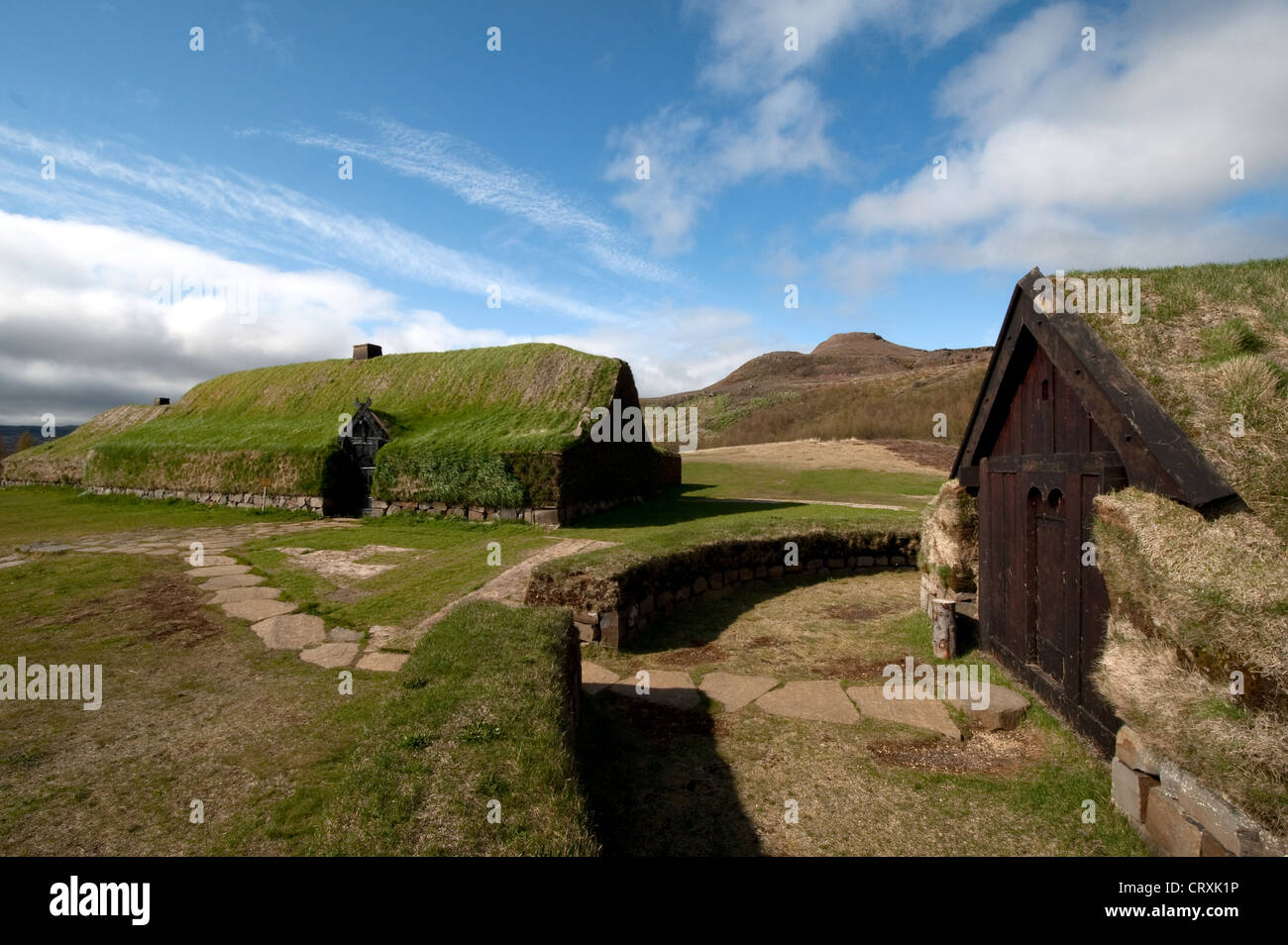 The Reconstructed Viking Longhouse At Stong Pjorsardalur