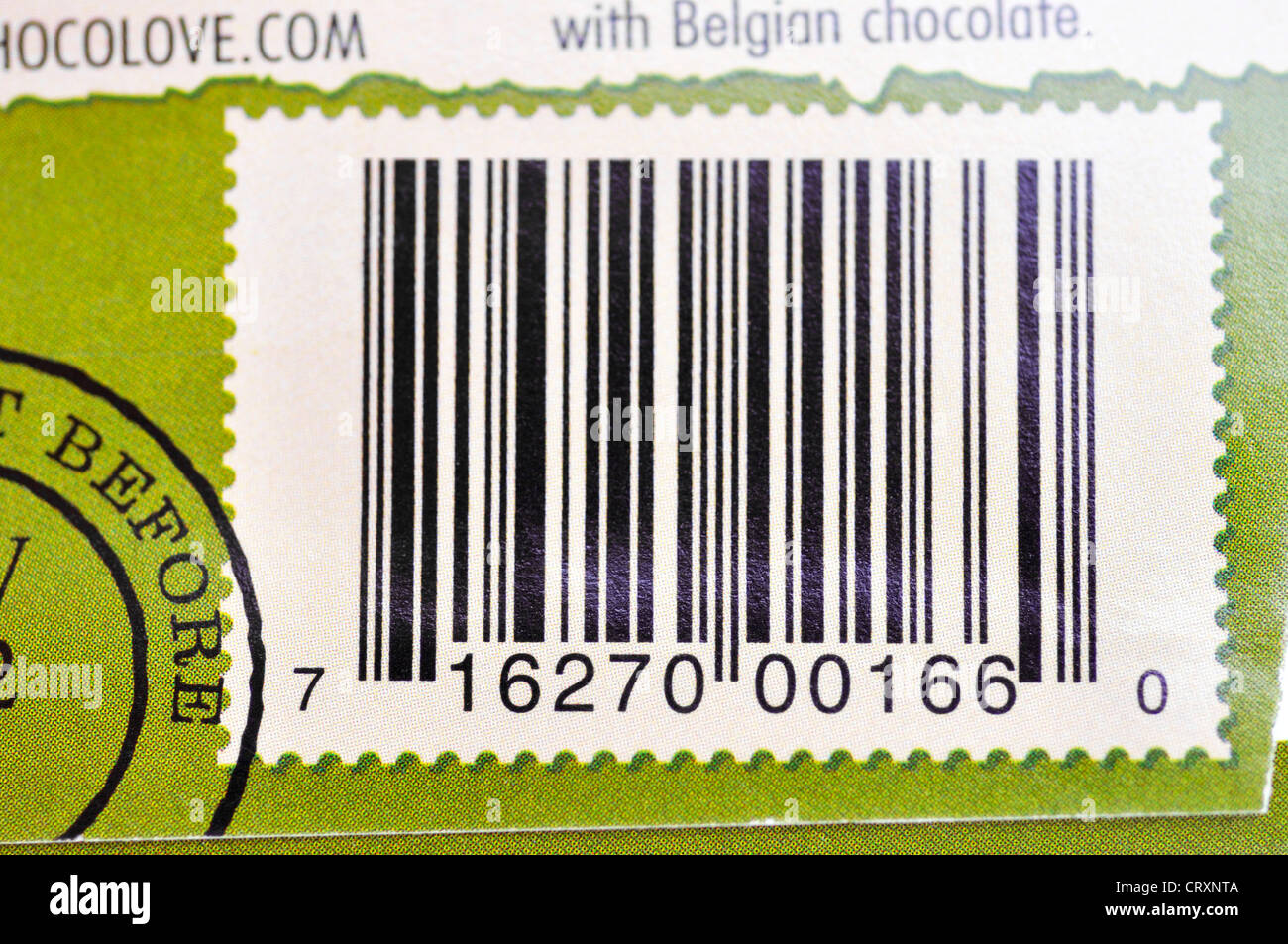 Barcode on food package stock photo royalty free image for Barcode food