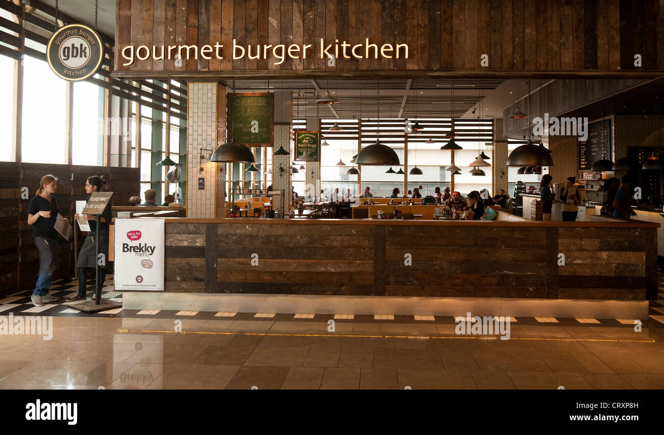 The Gourmet Burger Kitchen restaurant GBK Westfield Shopping