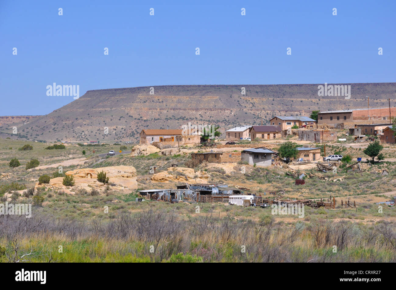 Houses In Native Indian Reservation New Mexico USA