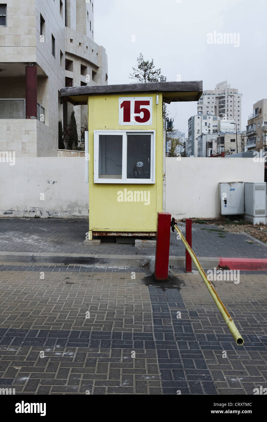 Israel View Of Car Parking Booth And Pole Stock Photo Royalty