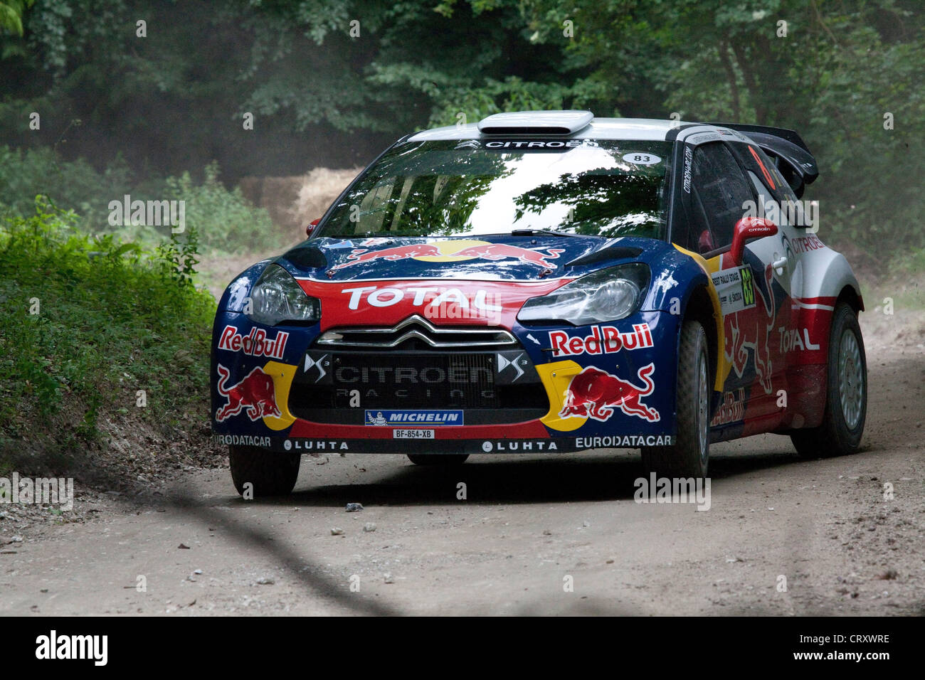 Citroen Ds3 Rally Car Goodwood Festival Of Speed 2012 Stock
