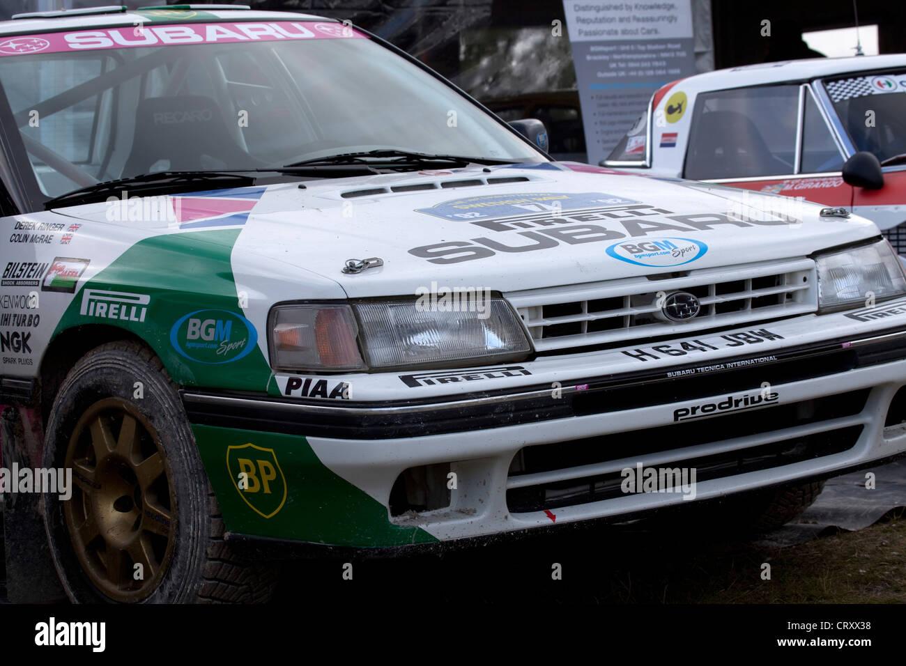 subaru legacy rally car 1990 was drivencolin mcrae stock photo
