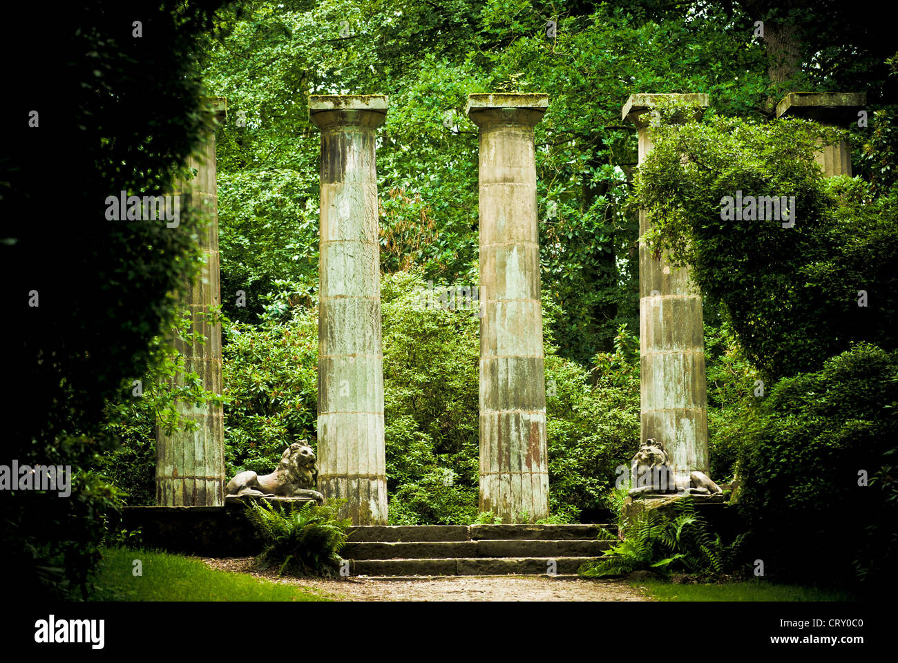 Stone Columns Harlow Carr Gardens Harrogate Stock Photo Royalty