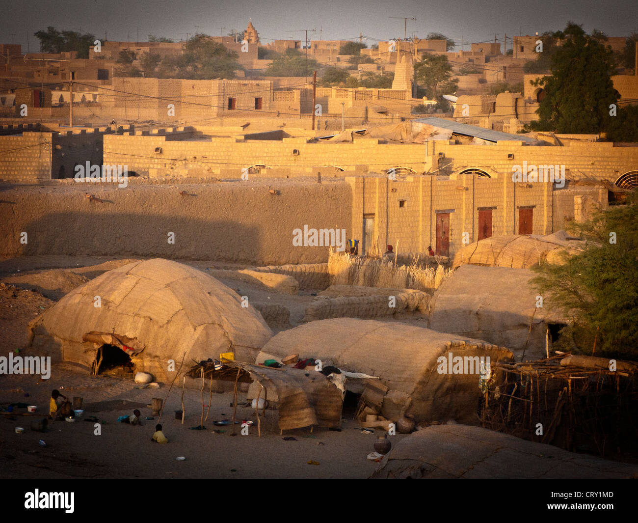 Nomads tents set up on the edge of Timbuktu old town Mali .Africa & Nomads tents set up on the edge of Timbuktu old town Mali .Africa ...
