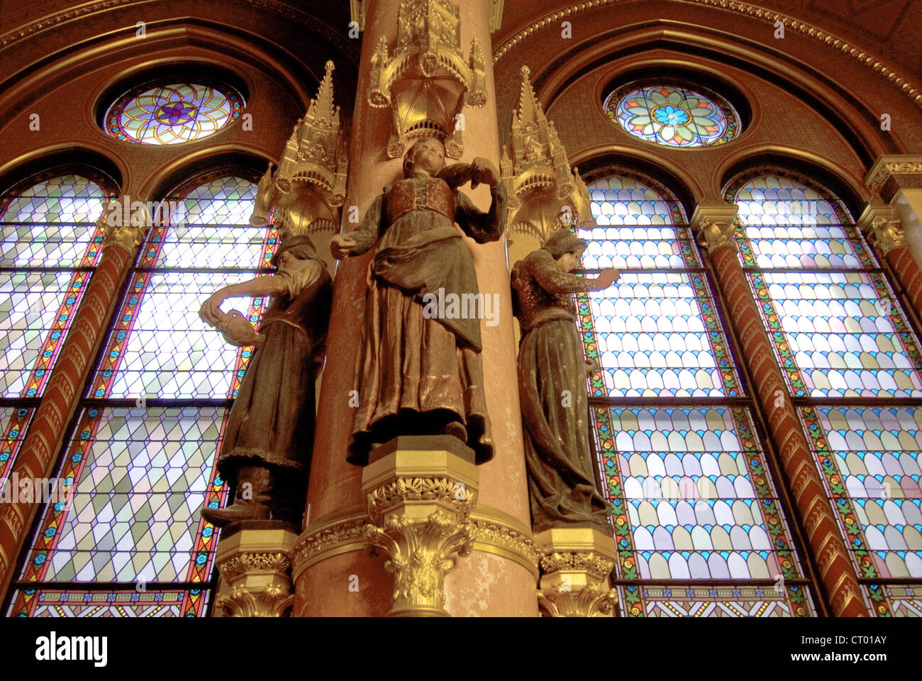 Interior Detail Of The House Of Parliament, Built In Neo Gothic Style,  Danube River Embankment In Budapest, Hungary